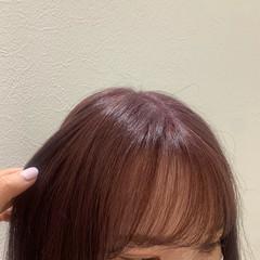 ラベンダーカラー ガーリー ミディアム ピンクラベンダー ヘアスタイルや髪型の写真・画像