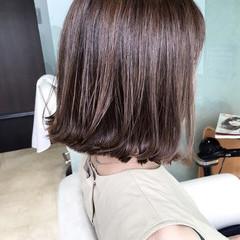 ボブ ハイライト ストリート 色気 ヘアスタイルや髪型の写真・画像