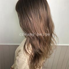 グラデーションカラー 透明感カラー セミロング ブリーチカラー ヘアスタイルや髪型の写真・画像