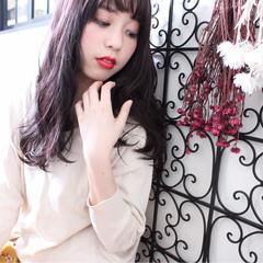 ロング ベージュ ピンクアッシュ ナチュラル ヘアスタイルや髪型の写真・画像