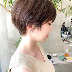ベリーショート オフィス 大人かわいい ショート ヘアスタイルや髪型の写真・画像