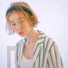 パーマ ボブ デート 簡単ヘアアレンジ ヘアスタイルや髪型の写真・画像