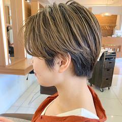 ふんわりショート ナチュラル ショート ハンサムショート ヘアスタイルや髪型の写真・画像