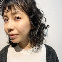 ミディアム ヘアアレンジ 無造作パーマ パーマボブ ヘアスタイルや髪型の写真・画像
