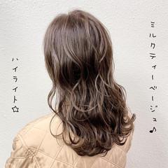 ハイライト エレガント ブリーチ バレイヤージュ ヘアスタイルや髪型の写真・画像