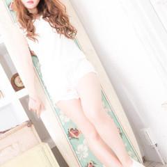 モテ髪 フェミニン ナチュラル ロング ヘアスタイルや髪型の写真・画像