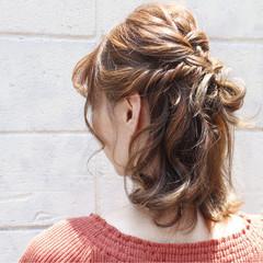ミディアム アンニュイ 花火大会 ガーリー ヘアスタイルや髪型の写真・画像