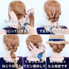 簡単ヘアアレンジ ロング アップスタイル まとめ髪 ヘアスタイルや髪型の写真・画像