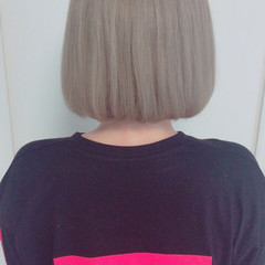 ストリート ボブ 外国人風カラー ダブルカラー ヘアスタイルや髪型の写真・画像