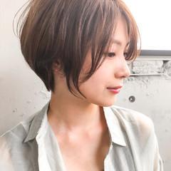 ショートヘア ショートボブ ショート ナチュラル ヘアスタイルや髪型の写真・画像