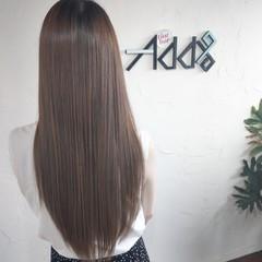 髪質改善トリートメント 韓国 エアーストレート ナチュラル ヘアスタイルや髪型の写真・画像