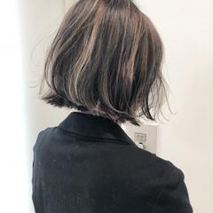 切りっぱなし 透明感 外国人風 ハイライト ヘアスタイルや髪型の写真・画像