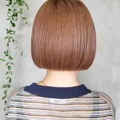 ボブ 切りっぱなし 切りっぱなしボブ ナチュラル ヘアスタイルや髪型の写真・画像