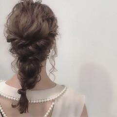 ハロウィン ヘアアレンジ セミロング ゆるふわ ヘアスタイルや髪型の写真・画像