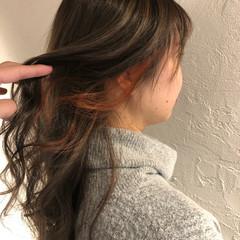 3Dカラー 大人ハイライト インナーカラー フェミニン ヘアスタイルや髪型の写真・画像