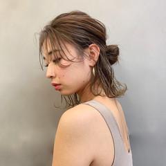 デート オフィス ナチュラル 簡単ヘアアレンジ ヘアスタイルや髪型の写真・画像