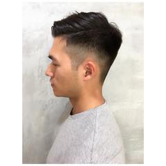 メンズヘア モード ショート 黒髪 ヘアスタイルや髪型の写真・画像