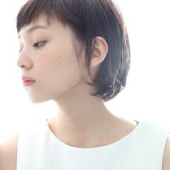 前髪あり 外国人風 ナチュラル ショート ヘアスタイルや髪型の写真・画像