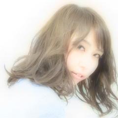 パーマ 小顔 大人女子 ミディアム ヘアスタイルや髪型の写真・画像