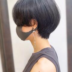 大人かわいい ショートヘア ショートボブ 耳かけ ヘアスタイルや髪型の写真・画像