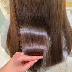 艶カラー ロング 髪質改善 艶髪 ヘアスタイルや髪型の写真・画像