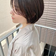 ナチュラル オフィス ショート ショートヘア ヘアスタイルや髪型の写真・画像