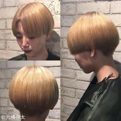 モード ミディアム ブリーチ ヘアスタイルや髪型の写真・画像