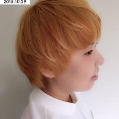 ショート ガーリー 外国人風 ブリーチ ヘアスタイルや髪型の写真・画像