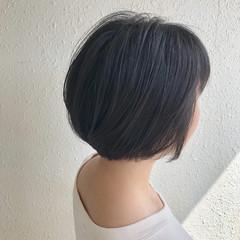 小顔ショート モテボブ ショートヘア ナチュラル ヘアスタイルや髪型の写真・画像