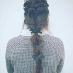ヘアアレンジ くるりんぱ ロング ヘアアクセ ヘアスタイルや髪型の写真・画像