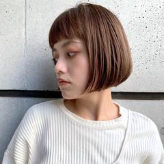 ラベンダーアッシュ ショートボブ ミニボブ 透明感カラー ヘアスタイルや髪型の写真・画像