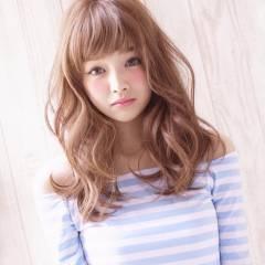 ロング グラデーションカラー 大人かわいい ナチュラル ヘアスタイルや髪型の写真・画像
