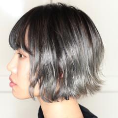 ボブ ハイトーン モード ハイトーンカラー ヘアスタイルや髪型の写真・画像
