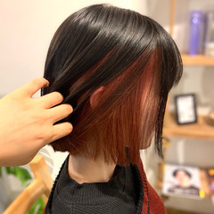 ミニボブ ナチュラル ボブ 切りっぱなしボブ ヘアスタイルや髪型の写真・画像