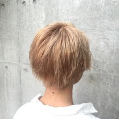 ストリート ブリーチ 外国人風 ショート ヘアスタイルや髪型の写真・画像
