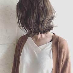 ボブ 外国人風カラー 秋 ナチュラル ヘアスタイルや髪型の写真・画像