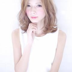 愛され ゆるふわ モテ髪 フェミニン ヘアスタイルや髪型の写真・画像