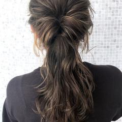 ロング 夏 ヘアアレンジ ナチュラル ヘアスタイルや髪型の写真・画像