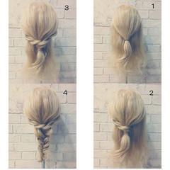 ショート ロング ヘアアレンジ フェミニン ヘアスタイルや髪型の写真・画像