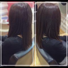 ナチュラル 艶髪 髪質改善カラー 社会人の味方 ヘアスタイルや髪型の写真・画像