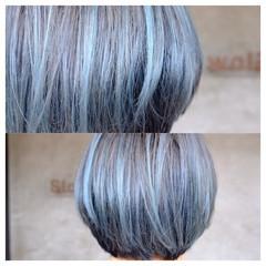 マッシュ ブルー ラフ ストリート ヘアスタイルや髪型の写真・画像