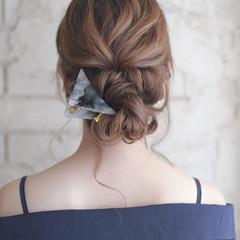 ハーフアップ パーティ 大人かわいい ナチュラル ヘアスタイルや髪型の写真・画像
