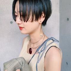 ベリーショート ショート ショートヘア 黒髪ショート ヘアスタイルや髪型の写真・画像
