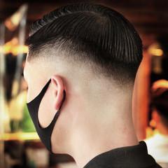 刈り上げ フェードカット ナチュラル メンズヘア ヘアスタイルや髪型の写真・画像