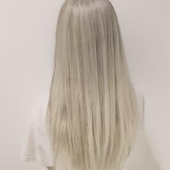外国人風 ホワイト ストリート ブリーチ ヘアスタイルや髪型の写真・画像
