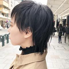ウルフ女子 ウルフカット ストリート ナチュラルウルフ ヘアスタイルや髪型の写真・画像