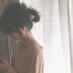 フリンジバング 大人かわいい 透明感 大人女子 ヘアスタイルや髪型の写真・画像