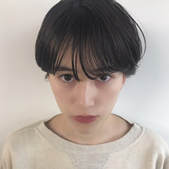大人女子 ナチュラル 前髪パーマ 前髪あり ヘアスタイルや髪型の写真・画像