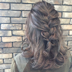 ハイライト ヘアアレンジ アッシュ 外国人風 ヘアスタイルや髪型の写真・画像
