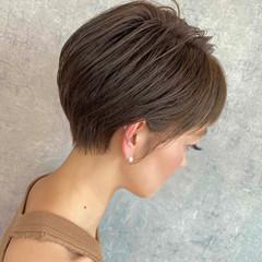 ミニボブ ショートボブ 小顔ショート ナチュラル ヘアスタイルや髪型の写真・画像